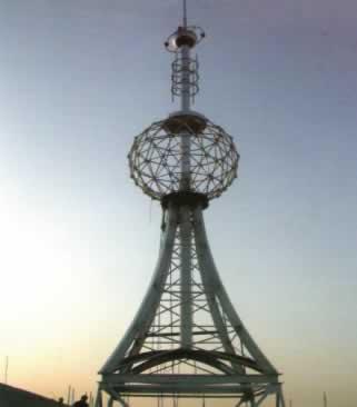沧州市劳动局办公楼楼顶铁塔
