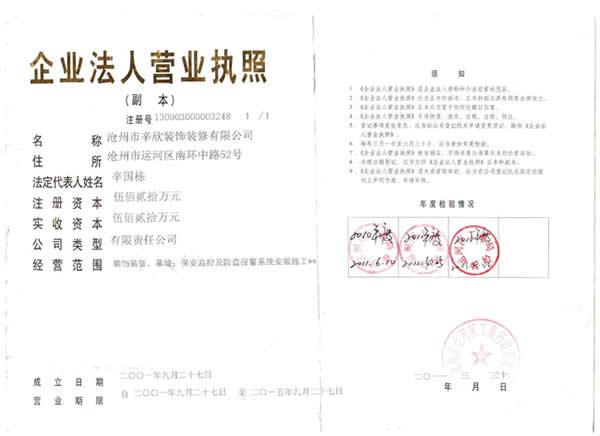 2013营业执照年审