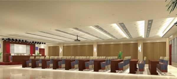 任丘市政府招待处大会议室内装贝博提现