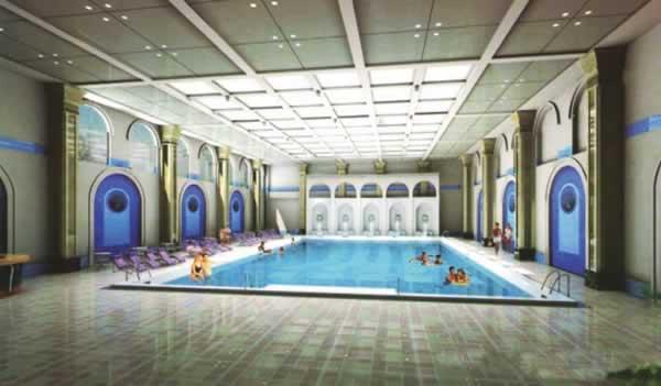 北京市康泰温泉度假村浴场内装贝博提现